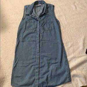 Sonoma chambray studded shift dress size medium